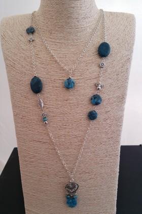 Sautoir pierres naturelles  turquoise