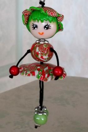 Petite Nana Chapeau vert et rouge