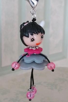Petite Nana robe grise et rose