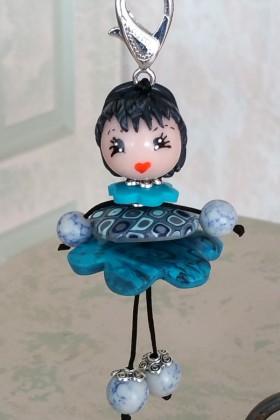 Petite Nana Fimo bleue